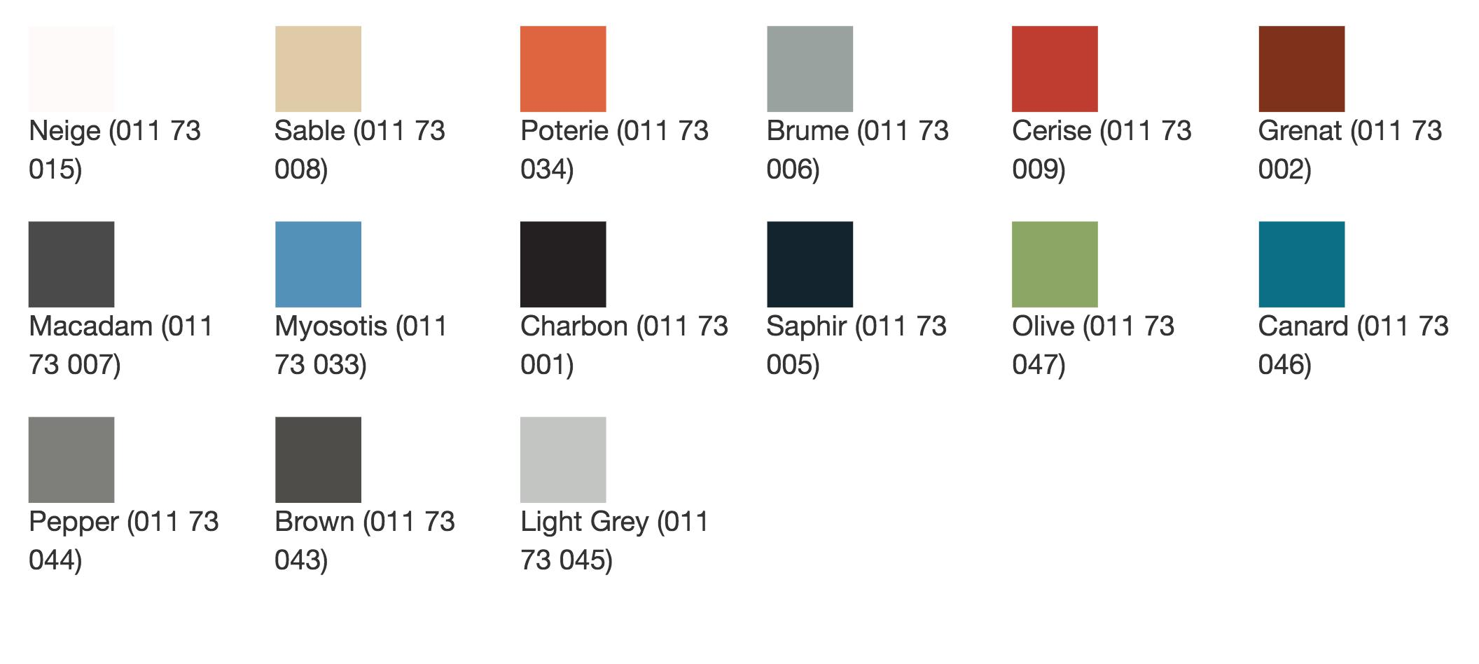 palette de couleurs pour notre fauteuil de dialyse actual way