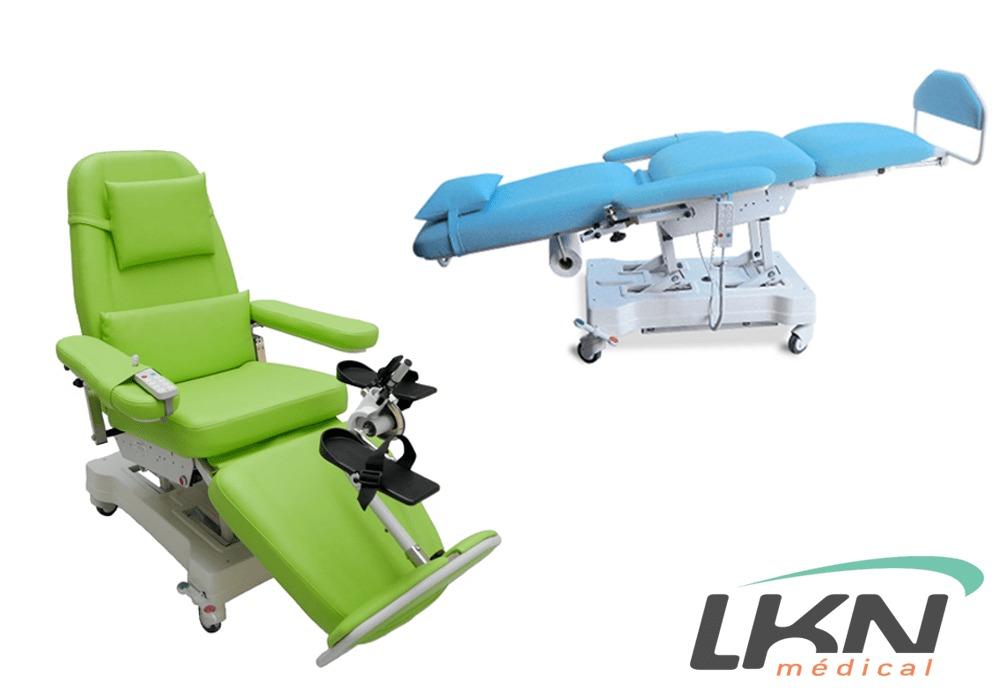 Ceci est la gamme de fauteuils de dialyse Actual Way avec système de pédalier que nous distribuons en France et sur les DOM-TOM